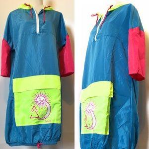 Snagz windbreaker dress, med & Xlarge, multicolore